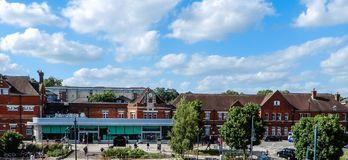 Basingstoke Train Station. Basingstoke, United Kingdom - June 14 2018:   A view of Basingstoke Train Station on a sunny day Royalty Free Stock Images
