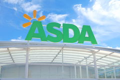 BASINGSTOKE, UK - JULY 20, 2016: Store front of the ASDA supermarket in Brighton Hill Stock Images