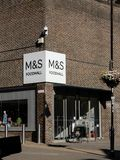 M&S Food hall. Basingstoke, United Kingdom - June 26 2018: The enrance to the food hall of Marks and Spencers department store on Church Street Royalty Free Stock Photos