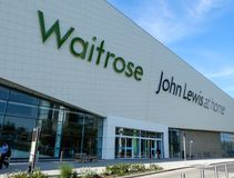 Waitrose and John Lewis home. Basingstoke, United Kingdom - June 06 2018:   The new combined Waitrose supermarket and John Lewis home superstore on Churchill Way Stock Images