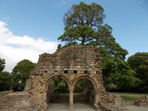 Basingwerk Abbey. In north Wales Royalty Free Stock Photos