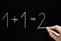Basis Berekeningen Stock Afbeelding