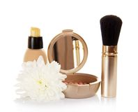 Basis for cosmetics and chrysanthemum flower Royalty Free Stock Photography