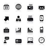 Basis - de Bedrijfspictogrammen van het Bureau en Royalty-vrije Stock Afbeeldingen