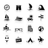 Basis - de pictogrammen van de Vakantie Stock Foto
