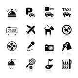 Basis - de pictogrammen van het Hotel Stock Fotografie