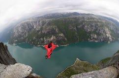 BASIS die Noorwegen springt Royalty-vrije Stock Afbeeldingen
