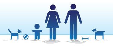 Basis familie Royalty-vrije Stock Afbeeldingen