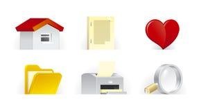 Basis pictogrammen | T.U.P.O. kleur Royalty-vrije Stock Afbeeldingen