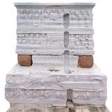 Basis van Egyptische Obelisk in Istanboel, Turkije royalty-vrije stock foto's