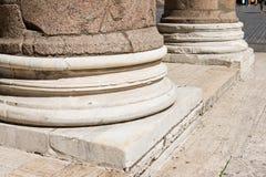 Basis van kolommen, Pantheon Rome, Stock Foto