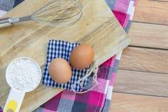 Basisingrediënten voor baksel en dessert Stock Foto's