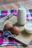 Basisingrediënten voor baksel en dessert Stock Afbeelding