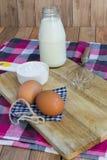 Basisingrediënten voor baksel en dessert Royalty-vrije Stock Foto