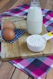 Basisingrediënten voor baksel en dessert Stock Fotografie