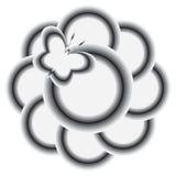 Basisrecheneinheit und Blume lizenzfreie stockbilder