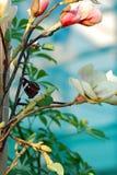 Basisrecheneinheit und Blumen Stockfoto