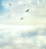Basisrecheneinheiten im Himmel Lizenzfreie Stockfotografie