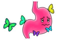 Basisrecheneinheiten im Magen lizenzfreie abbildung
