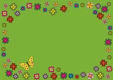 Basisrecheneinheiten und Blumen Lizenzfreie Stockfotografie