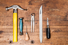 Basisschoenmaker Tools Stock Foto