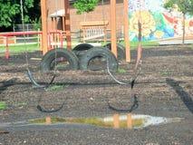 Basisschoolspeelplaats royalty-vrije stock afbeelding