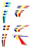 Basissen 2 van het embleem of van het pictogram Stock Fotografie
