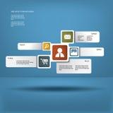 Basisweblay-out Royalty-vrije Stock Foto