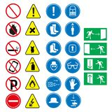 Job safety equipment icons set.design vector illustration design. Icons stock illustration