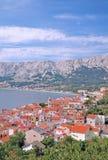 baska克罗地亚海岛krk 免版税库存图片