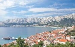 Baska, Krk海岛,克罗地亚 免版税库存照片