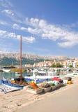 Baska, île de Krk, Croatie photographie stock