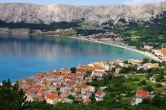Baska, île de Krk, Croatie Images libres de droits