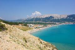 Baska, остров Krk, Хорватии стоковые изображения