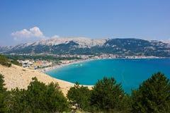 Baska, остров Krk, Хорватии стоковая фотография