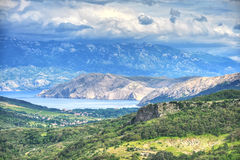 Baska aerial view, Croatia Stock Photos