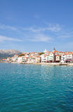 Baska, console de Krk, Croatia fotografia de stock