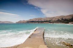 Baska, Croacia Fotos de archivo libres de regalías