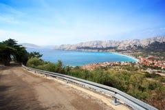 Baska-Erholungsort, Kroatien lizenzfreies stockbild