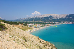 Baska, isla de Krk, Croacia imagenes de archivo