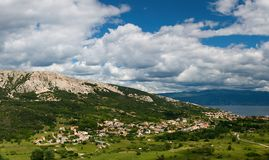 Baska, island Krk Stock Photos