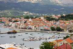 Baska on Island Krk Royalty Free Stock Photo