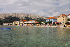 Baska on Island Krk Royalty Free Stock Images