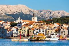 Baska, Krk, Croácia, Europa Imagem de Stock Royalty Free