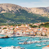 Baska, Krk, Croatie, l'Europe Image libre de droits