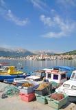 Baska, Krk Eiland, Kroatië stock foto's