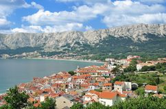 Baska,Krk island,adriatic Sea,Croatia royalty free stock photo