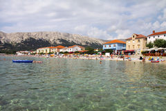 Baska on Krk Island, Croatia Stock Photo