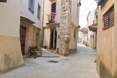 Baska, Krk Island, Croatia. Small street in Baska, Krk Island, Croatia stock photos