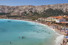 Baska laguna, Croatie. Images libres de droits